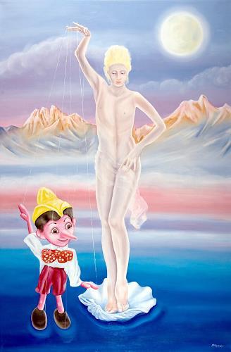 Joerg Peter Hamann, Adam and Eve, Erotic motifs: Female nudes, Fantasy, Post-Surrealism
