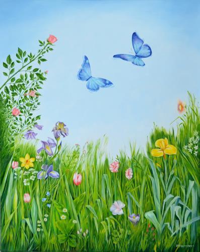 Joerg Peter Hamann, Springtime, Landscapes: Spring, Plants: Flowers, Naturalism