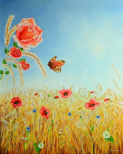 Joerg Peter Hamann, Summertime, Harvest, Landscapes: Summer, Naturalism, Modern Age