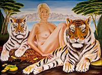 Joerg-Peter-Hamann-People-Women-Animals-Land-Contemporary-Art-Post-Surrealism