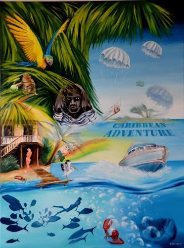 Joerg Peter Hamann, Caribbian Adventure, Landscapes: Tropics, Landscapes: Beaches, Realism
