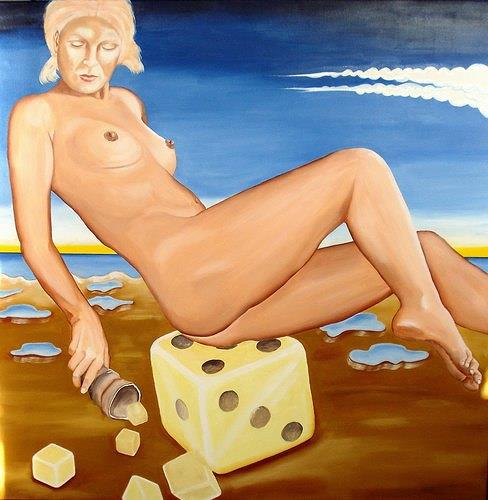 Joerg Peter Hamann, alea iacta est, Erotic motifs: Female nudes, Landscapes: Sea/Ocean, Post-Surrealism