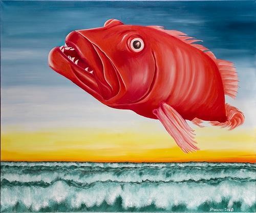 Joerg Peter Hamann, Encore une fois, Animals: Water, Nature: Water, Post-Surrealism, Contemporary Art
