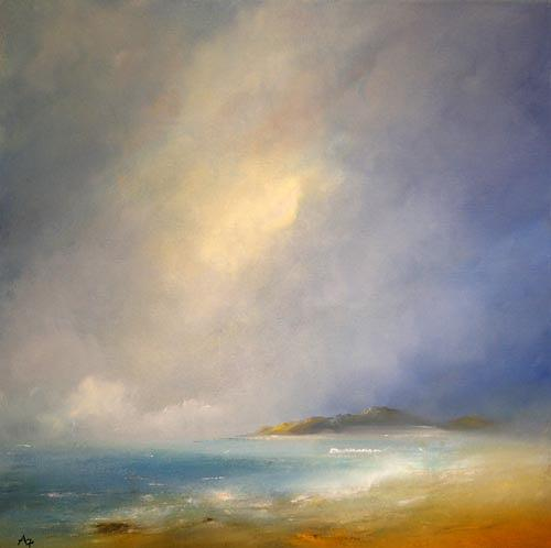 Petra Ackermann, Morning Mists, Landscapes: Sea/Ocean, Nature: Water, Contemporary Art, Expressionism