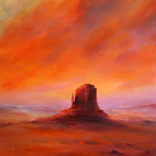 Petra Ackermann, Desert Glow, Landscapes: Plains, Nature: Rock, Contemporary Art, Expressionism