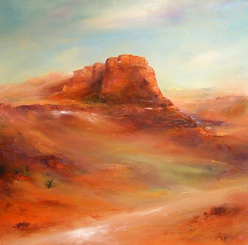 Petra Ackermann, Red Rocks, Landscapes: Mountains, Nature: Rock, Contemporary Art, Expressionism