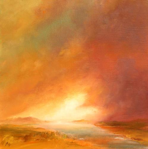 Petra Ackermann, Eternity, Landscapes: Sea/Ocean, Landscapes: Plains, Contemporary Art, Expressionism