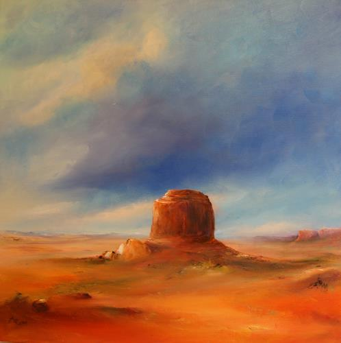 Petra Ackermann, The Butte, Landscapes: Plains, Nature: Rock, Contemporary Art