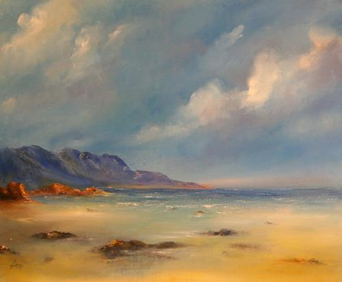 Petra Ackermann, The Beach, Nature: Rock, Landscapes: Sea/Ocean, Contemporary Art, Expressionism