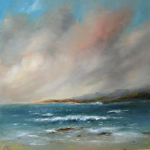 Petra Ackermann, Grey Skies, Landscapes: Sea/Ocean, Nature: Water, Contemporary Art, Expressionism