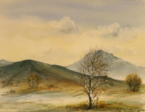 Petra Ackermann, Somewhere in Connemara, Landscapes: Mountains, Nature: Air, Contemporary Art