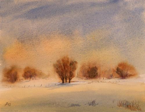 Petra Ackermann, Still Winter, Landscapes: Winter, Landscapes: Plains, Contemporary Art