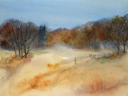 Petra Ackermann, Herbst  Symphony, Landscapes: Autumn, Nature: Wood, Contemporary Art, Expressionism