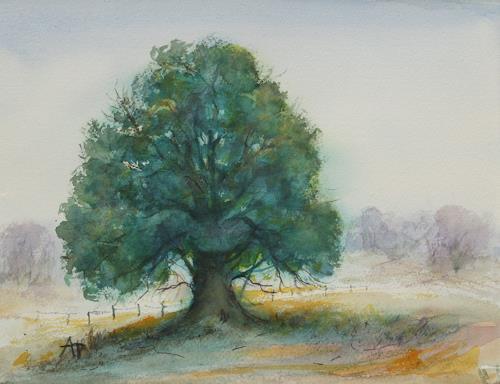 Petra Ackermann, Oak Tree 3, Landscapes: Summer, Contemporary Art