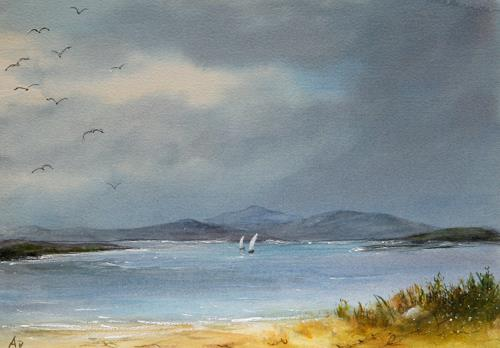 Petra Ackermann, Sea and Sky, Landscapes: Sea/Ocean, Nature: Water, Contemporary Art