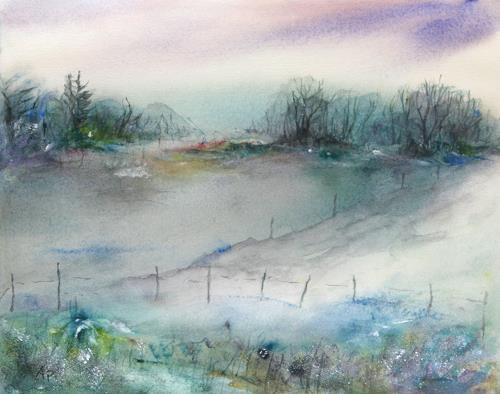 Petra Ackermann, End of Winter, Miscellaneous Landscapes, Miscellaneous Landscapes, Contemporary Art, Expressionism