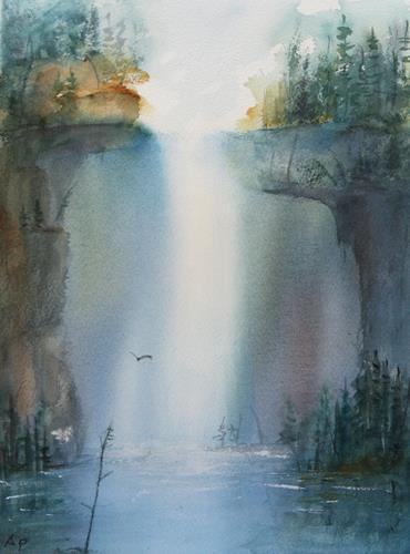 Petra Ackermann, Magic Falls, Nature: Rock, Nature: Water, Contemporary Art, Expressionism