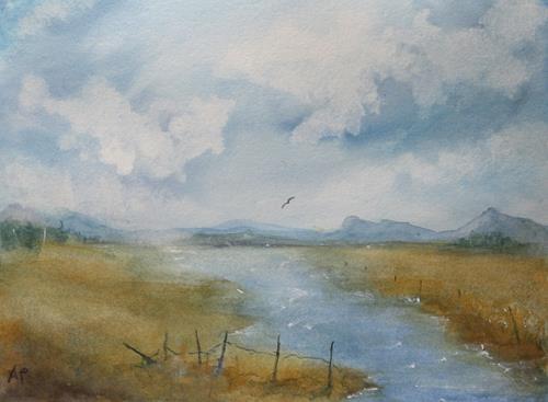 Petra Ackermann, Little River  2, Landscapes: Plains, Nature: Water, Contemporary Art