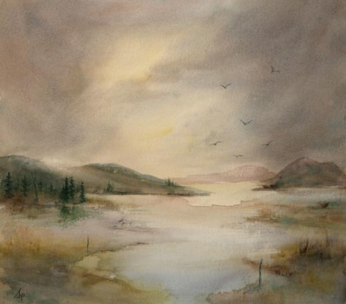 Petra Ackermann, EverDream 2, Landscapes: Mountains, Nature: Water, Contemporary Art, Expressionism
