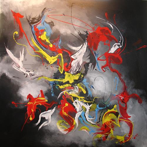 Helga Anders-Faber, Freier Flug, Abstract art, Movement, Abstract Art, Abstract Expressionism