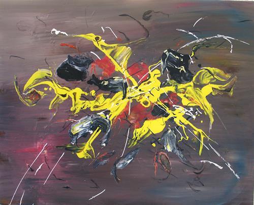 Helga Anders-Faber, Don Quichote, Abstract art, Fantasy, Abstract Art
