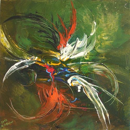 Helga Anders-Faber, freier Flug 4, Abstract art, Fantasy, Contemporary Art