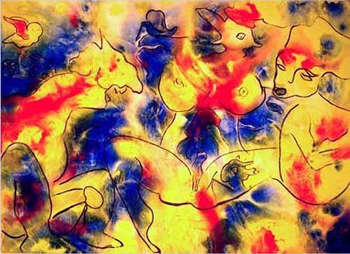 Nikol Heutschi, Porno, Abstract art, Radical Painting, Expressionism