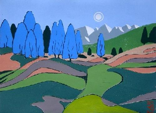 Manfred Riffel, DIE FARBEN TIROLS, Landscapes: Mountains, Landscapes: Mountains, Naturalism, Modern Age