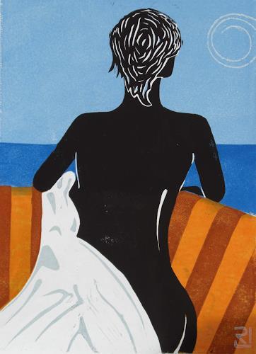 Manfred Riffel, Fernweh, People, People: Women, Contemporary Art