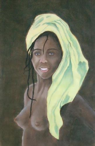 Manfred Riffel, black beauty, People, Contemporary Art