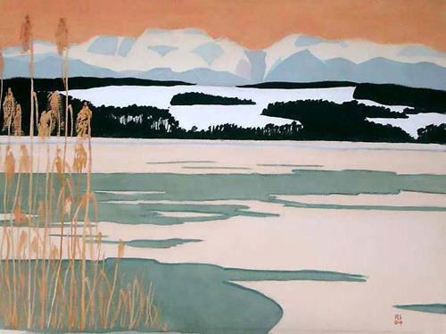Manfred Riffel, Chiemsee, Saharastaub, Landscapes, Naturalism, Expressionism