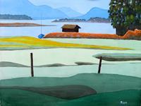 Manfred Riffel, Chiemsee - die Bucht bei Schafwaschen
