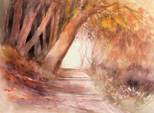 aquafunck, Herbst auf der Mainau, Landscapes: Autumn, Contemporary Art, Expressionism
