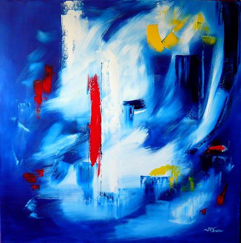 Mariola Wloch, Nächtlicher Spaziergang, Abstract art, Miscellaneous Romantic motifs, Abstract Art