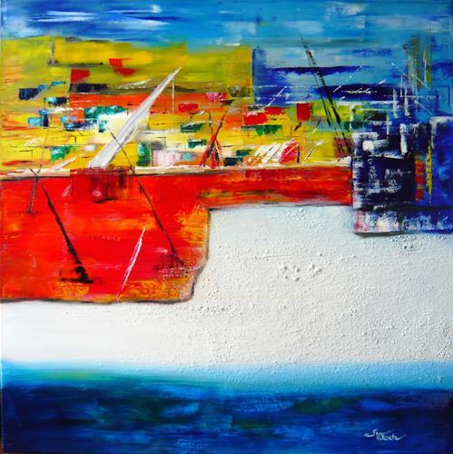 Mariola Wloch, Hamburger Hafen, Abstract art, Industry  , Abstract Art, Expressionism