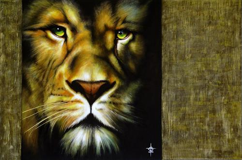 Andreas Baumann, Lion, Animals: Land, Realism, Expressionism