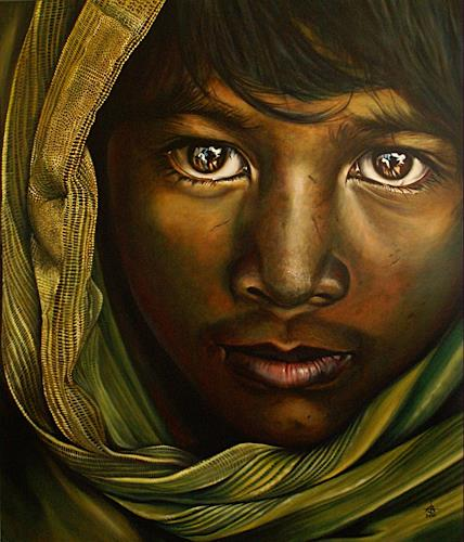 Andreas Baumann, Eyes of Magic, People: Faces, People: Portraits, Photo-Realism, Expressionism
