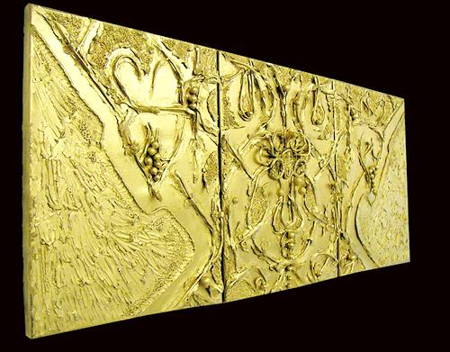 Marian Zaic, Werk 001 T (Triptychon), Abstract art, Abstract art, Contemporary Art