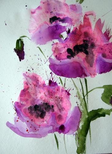 Kerstin Sigwart, Sommer im Garten, Plants: Flowers, Contemporary Art, Expressionism