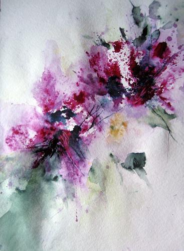 Kerstin Sigwart, wegweisend, Plants: Flowers, Contemporary Art, Expressionism