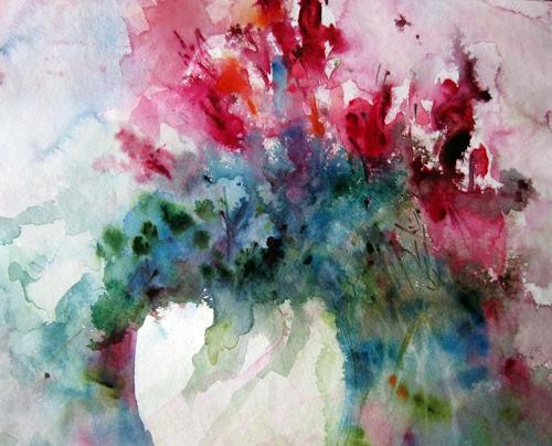 Kerstin Sigwart, Cyclamen, Plants: Flowers, Contemporary Art, Expressionism