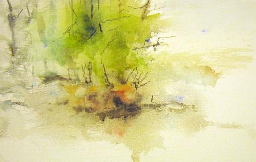 Kerstin Sigwart, im Frühlingswald, Landscapes, Contemporary Art, Expressionism