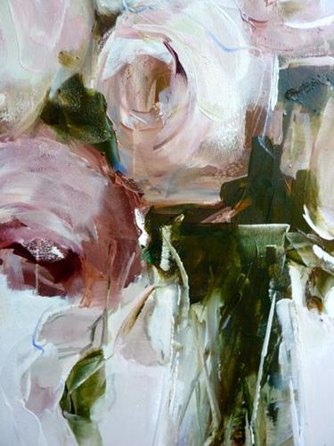 Kerstin Sigwart, Rosen, Plants: Flowers, Contemporary Art, Expressionism