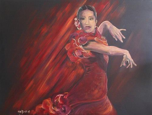 Amigold, Carmen Flamenco II, Movement, Abstract Art