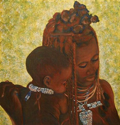 Amigold, Madre Himba, People: Women, Emotions: Love