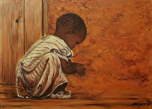 Amigold, Childhood in Africa, People: Children