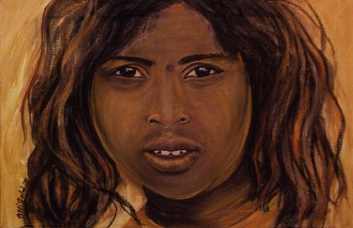 Amigold, Indian Girl III, People: Portraits