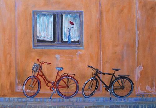 Amigold, Beim roten Haus..., Miscellaneous Romantic motifs, Abstract Art