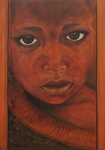 Amigold african child with a click on send as art card you can
