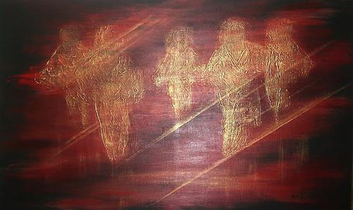 Amigold, Angels, Abstract art